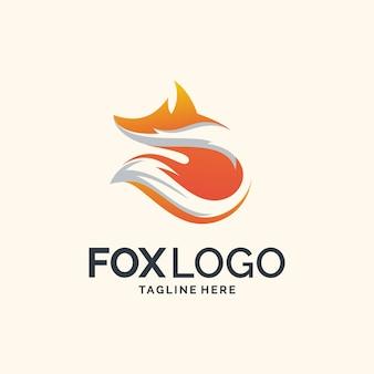Diseño de logotipo de zorro