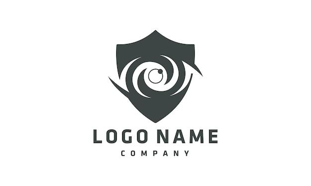 Diseño de logotipos de protección de información y redes