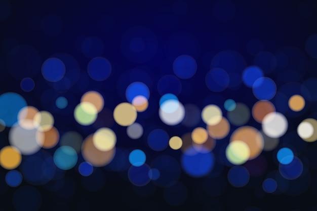 Diseño de luces brillantes de fondo bokeh