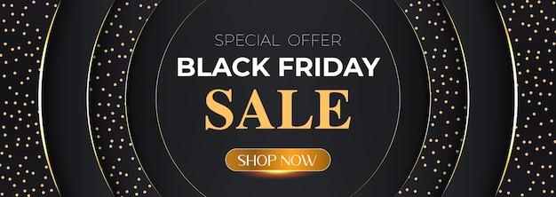 Diseño de lujo de banner de venta de viernes negro