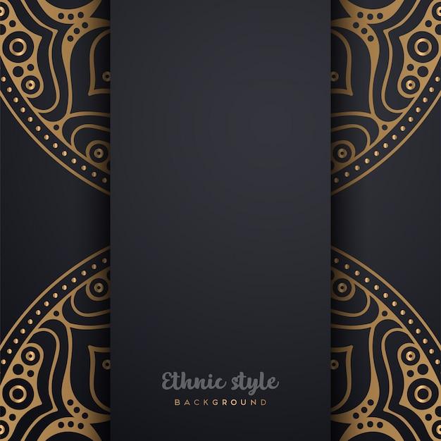 Diseño de lujo de estilo árabe.