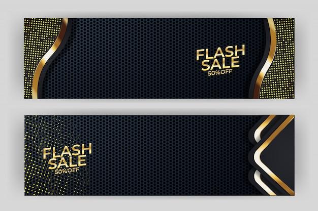 Diseño de lujo de fondo de banner de venta flash