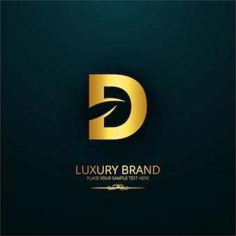 Diseño de lujo de marca de la letra d