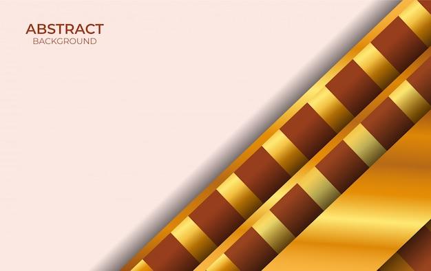 Diseño de lujo marrón y dorado