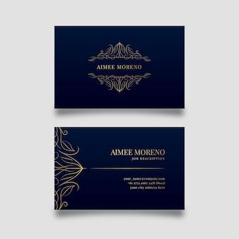 Diseño de lujo para plantilla de tarjeta de visita