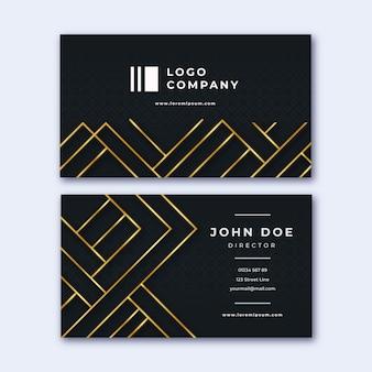 Diseño de lujo para tarjeta de visita de empresa