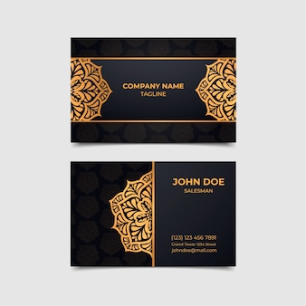 Diseño de lujo para tarjeta de visita