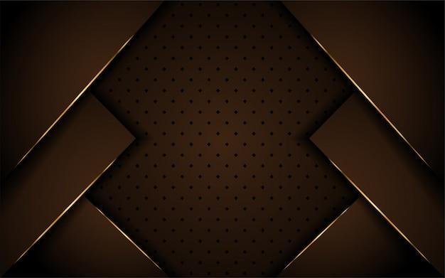 Diseño lujoso fondo marrón oscuro