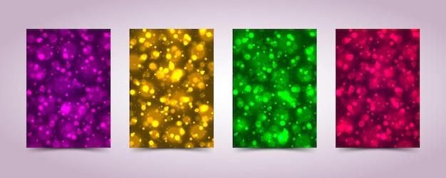 Diseño de luz de desenfoque de cubierta de fondo. ilustración vectorial