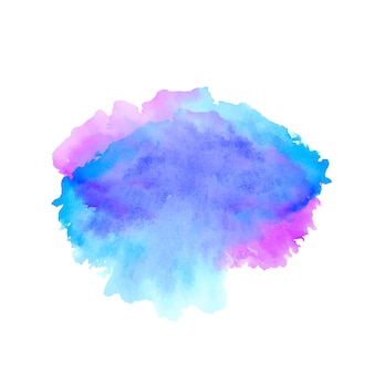Diseño de mancha colorida de salpicaduras de acuarela