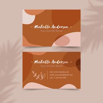 Diseño de manchas de color pastel para tarjetas de visita