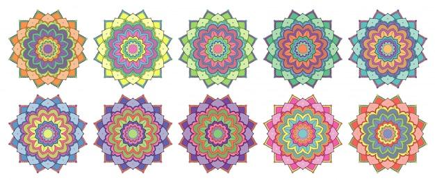 Diseño de mandala aislado