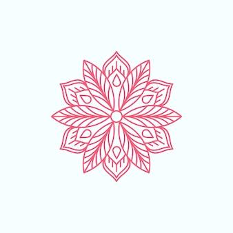 Diseño de mandala de línea minimalista moderna