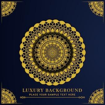 Diseño de mandala de lujo con arabescos dorados, estilo islámico árabe oriental