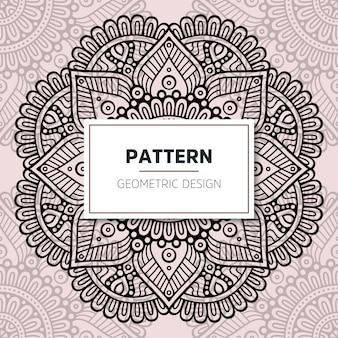 Diseño de mandala ornamental de lujo