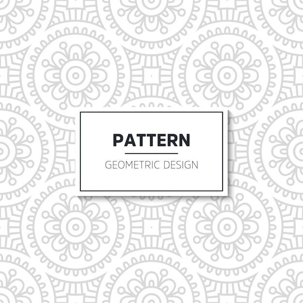 Diseño de mandala de patrón de lujo