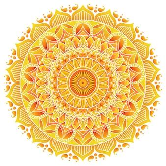 Diseño de mandala premium rangoli