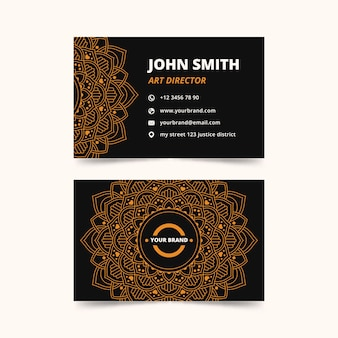 Diseño de mandala para tarjeta de visita