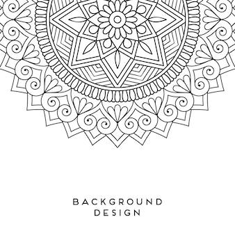 Diseño de mandala de vector