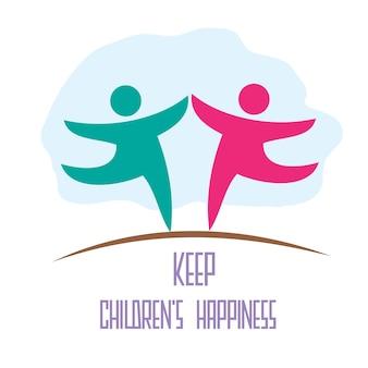 Diseño mantener la felicidad de los niños