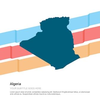 Diseño de mapa de algaria con vector de fondo blanco