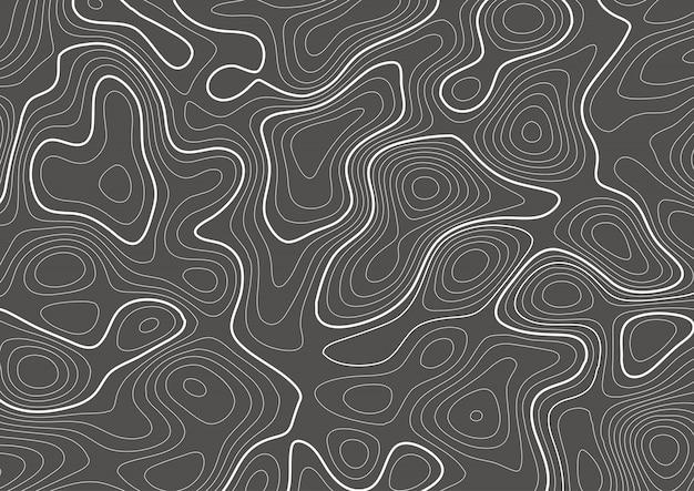 Diseño de mapa de contorno de topografía