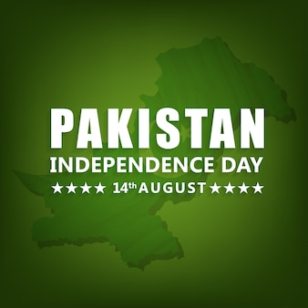 Diseño de mapa para el día de la independencia de pakistan