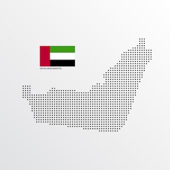 Diseño de mapa de emiratos árabes unidos