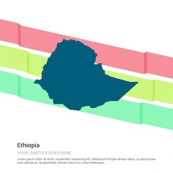 Diseño de mapa de etiopía con vector de fondo blanco