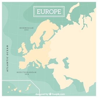 Diseño de mapa de europa
