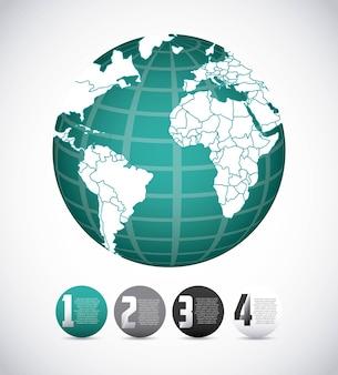 Diseño de mapa mundial
