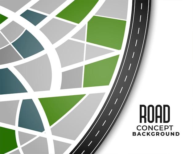 Diseño de mapa de ruta de ruta de viaje