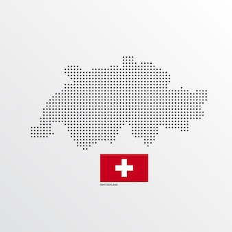 Diseño de mapa de suiza