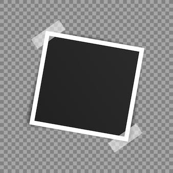 Diseño de maqueta de marco de foto de vector.