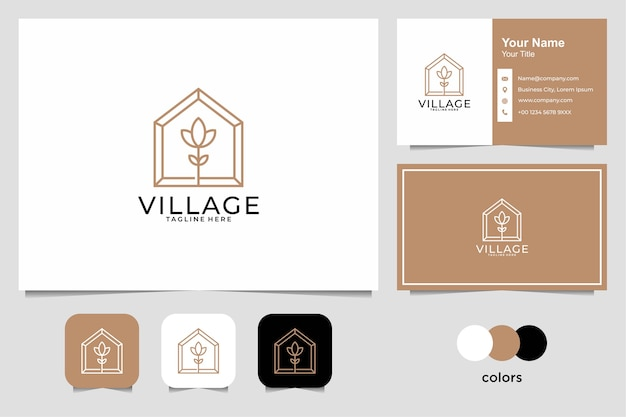 Diseño de marca del logotipo de stationery village