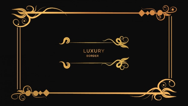 Diseño de marco de adornos modernos de lujo con flores