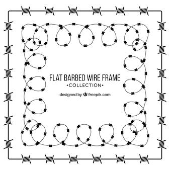 Diseño de marco de alambre de espina