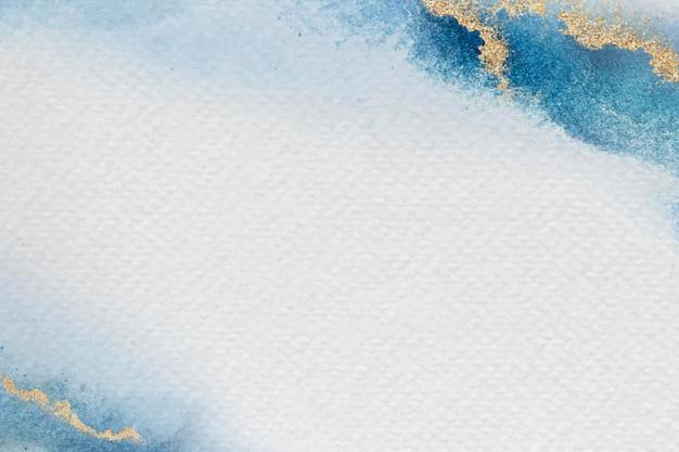 Diseño de marco azul en blanco