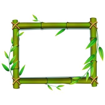 Diseño de marco de bambú