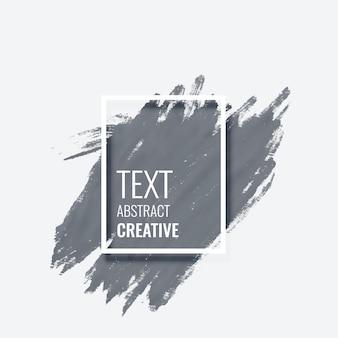 Diseño de marco de banner de acuarela de movimiento de pintura gris grunge