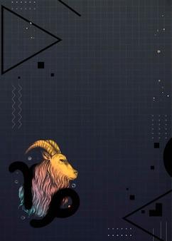 Diseño de marco de cabra colorido