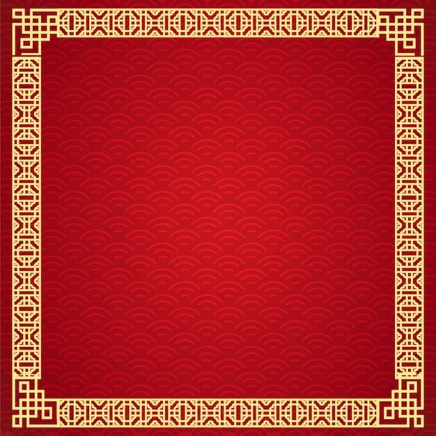 Diseño de marco chino.