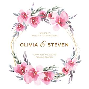 Diseño de marco floral para boda