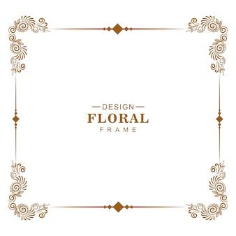 Diseño de marco floral decorativo de lujo