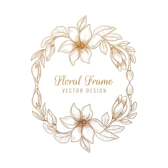 Diseño de marco floral decorativo ornamental