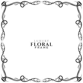 Diseño de marco floral decorativo