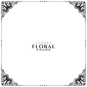 Diseño de marco floral de lujo hermoso vector de fondo