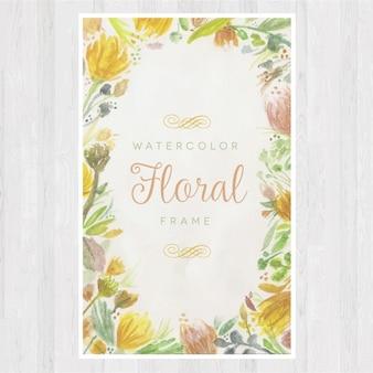 Diseño de marco floral