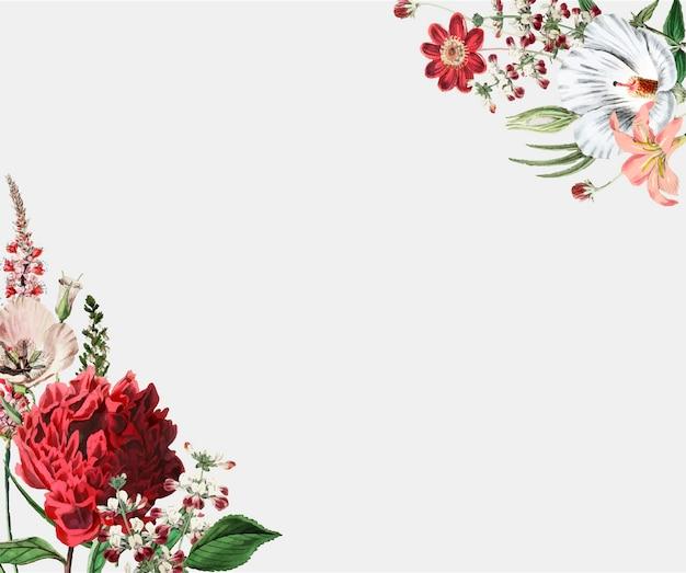 Diseño de marco de flores