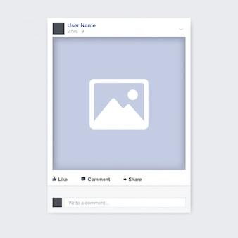 Diseño de marco de foto de redes sociales